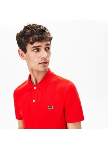 Lacoste Erkek Slim Fit Tişört PH4012.S5H Kırmızı